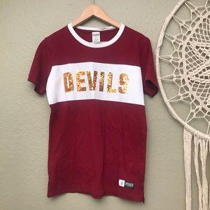 VS PINK Sun Devils Sequin T-Shirt XS